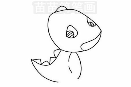 霸王龙简笔画图片步骤三