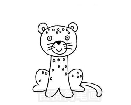 小豹简笔画图片大全 教程