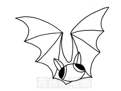 蝙蝠简笔画图片大全,画法