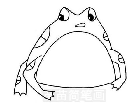 蟾蜍简笔画图片大全 教程