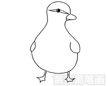 雏鸭简笔画图片大全,教程