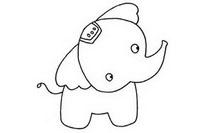 可爱大象简笔画图片大全、教程