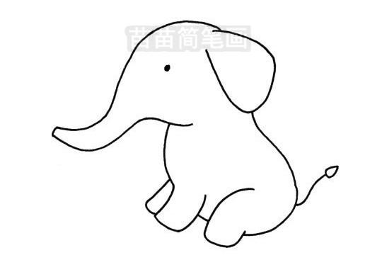 可爱大象简笔画图片大全 教程