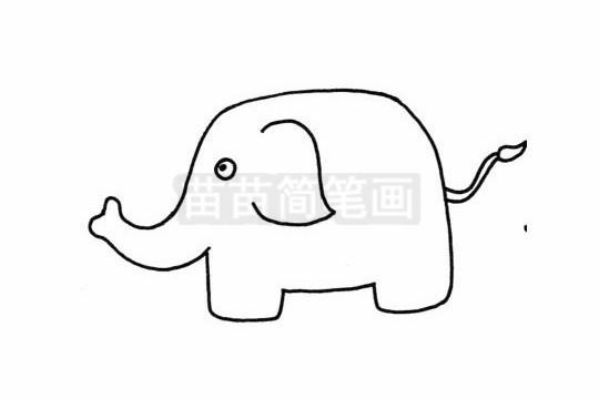 卡通大象简笔画图片大全 教程