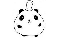 大熊猫简笔画图片大全、画法