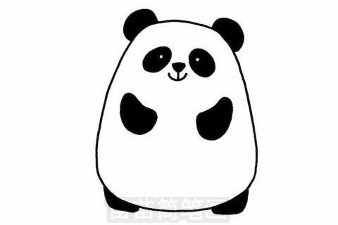 大熊猫简笔画图片大全,教程