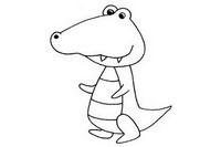 卡通鳄鱼简笔画图片大全、教程