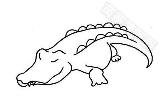 鳄鱼简笔画图片大全作品四