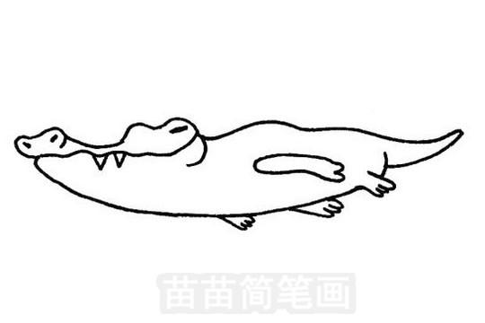 卡通鳄鱼简笔画图片大全 教程