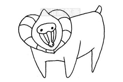 狒狒简笔画图片大全 教程