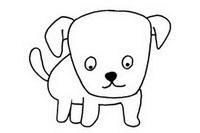 可爱狗狗简笔画图片大全、教程