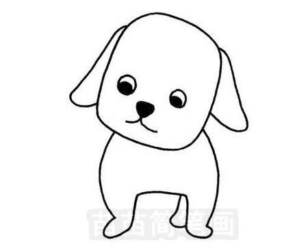 可爱狗狗简笔画图片大全 教程