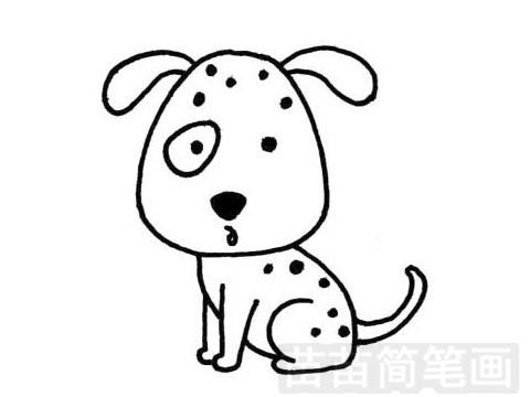 卡通狗狗简笔画图片大全 教程