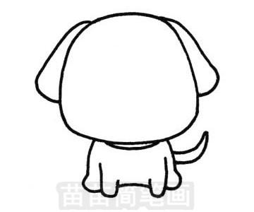 狗狗简笔画怎么画 图片大全