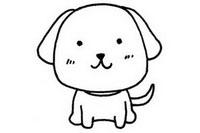 狗狗简笔画怎么画、图片大全