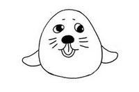 海豹简笔画怎么画、图片大全