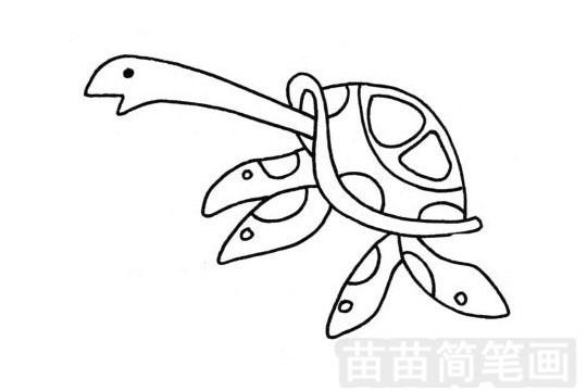海龟简笔画图片大全 画法