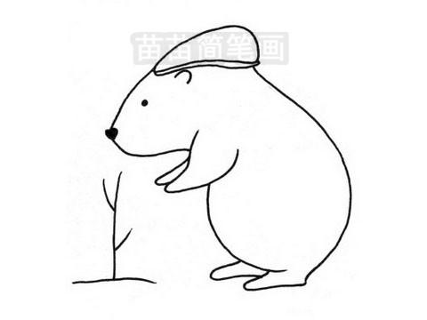 河狸简笔画图片大全 教程
