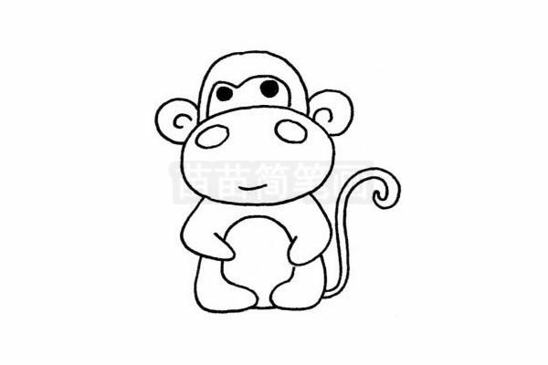 可爱小猴子简笔画图片大全 教程