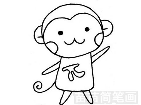 猴子简笔画图片大全作品一