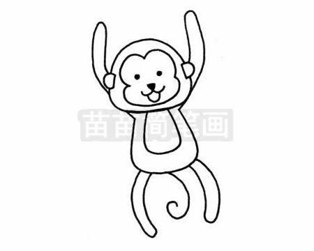 卡通猴子简笔画图片大全 教程