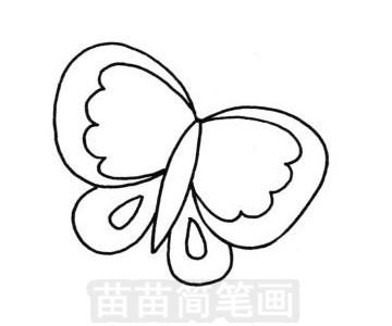 花蝴蝶简笔画图片大全 教程