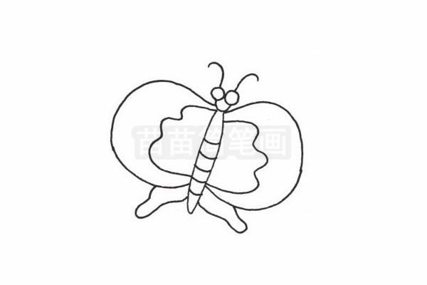 卡通蝴蝶简笔画图片大全 教程