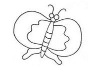 卡通蝴蝶简笔画图片大全、教程