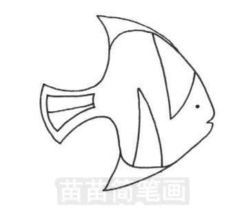 黄鳍鲳简笔画图片步骤三