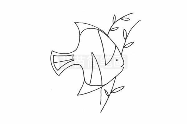 黄鳍鲳简笔画图片步骤四