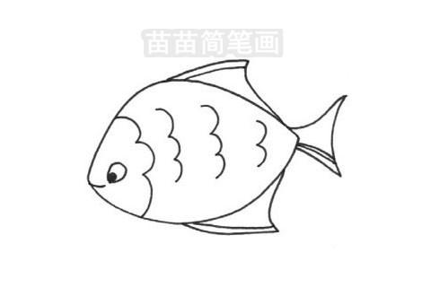 黄鳍鲳简笔画图片大全作品三