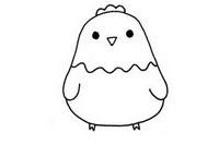 可爱小鸡简笔画图片大全、教程