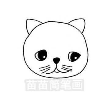 加菲猫简笔画图片步骤三