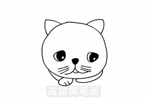 加菲猫简笔画大图