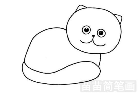 加菲猫简笔画图片大全作品一