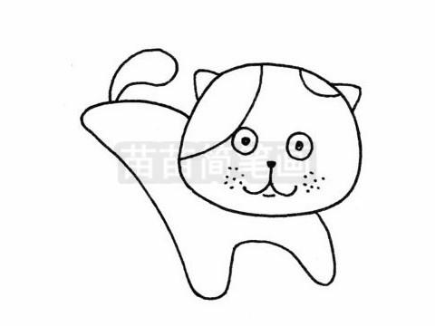 加菲猫简笔画图片大全作品二
