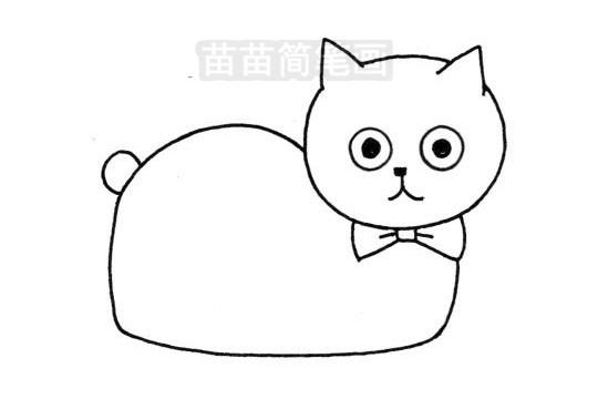 加菲猫简笔画图片大全作品三