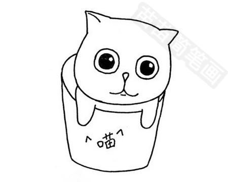 加菲猫简笔画图片大全作品四