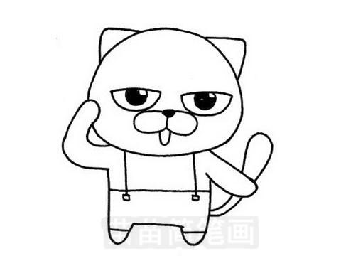 加菲猫简笔画图片大全作品五