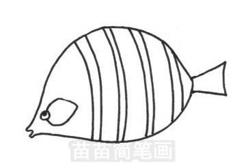 接吻鱼简笔画图片大全 教程
