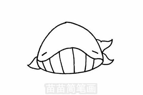 鲸简笔画大图