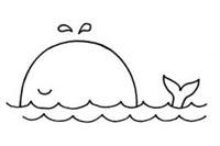 鲸鱼简笔画图片大全、教程