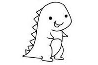 恐龙简笔画图片大全、画法