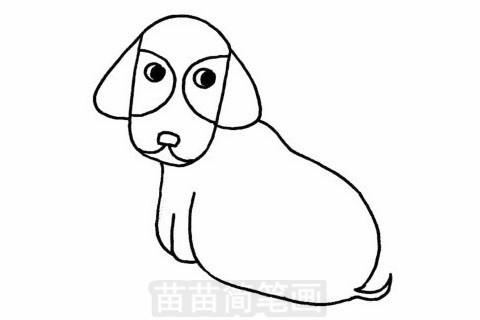 腊肠犬简笔画大图