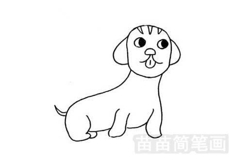 腊肠犬简笔画图片大全 教程