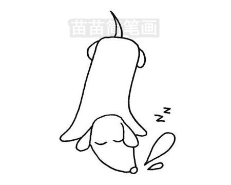 腊肠犬简笔画图片大全作品三