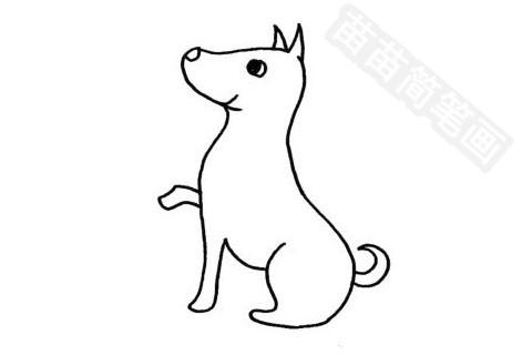 腊肠犬简笔画图片大全作品四