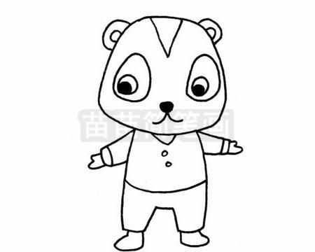 懒猴简笔画图片大全 教程