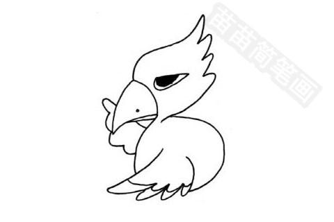 老鹰简笔画图片大全 画法