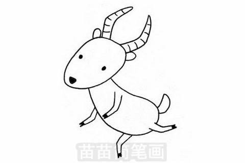 羚羊简笔画大图